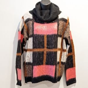 Vero Moda plaid roll neck sweater sz M